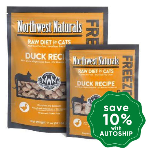 Northwest Naturals - Freeze-Dried Cat Food - Cat Nibbles Duck Flavour - 311G - PetProject.HK