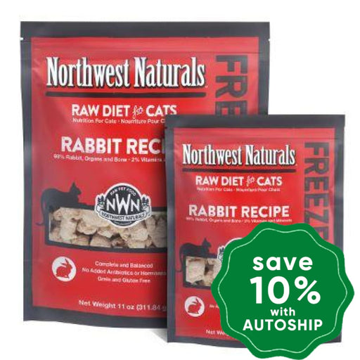 Northwest Naturals - Freeze-Dried Cat Food - Cat Nibbles Rabbit Flavour - 311G - PetProject.HK