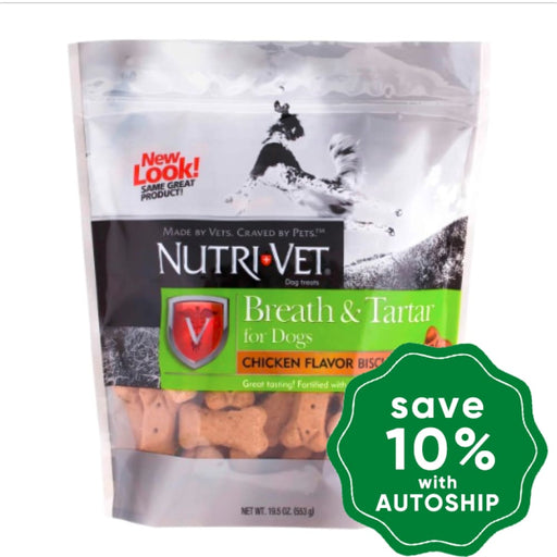 Nutri-Vet - Breath & Tartar Biscuit - Chicken Flavour - 19.5OZ - PetProject.HK