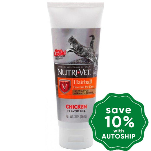Nutri-Vet - Hairball Paw-Gel for Cats - Chicken Flavor - 3OZ - PetProject.HK