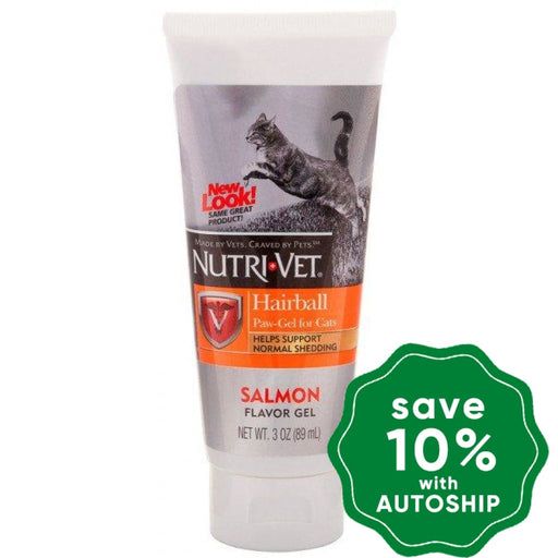 Nutri-Vet - Hairball Paw-Gel for Cats - Salmon Flavor - 3OZ - PetProject.HK