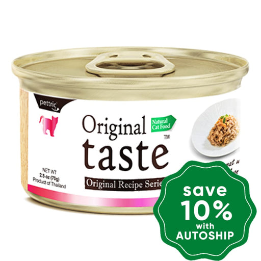 Original Taste - Tuna Whitemeat with Fresh Salmon - 70G (24 Cans) - PetProject.HK