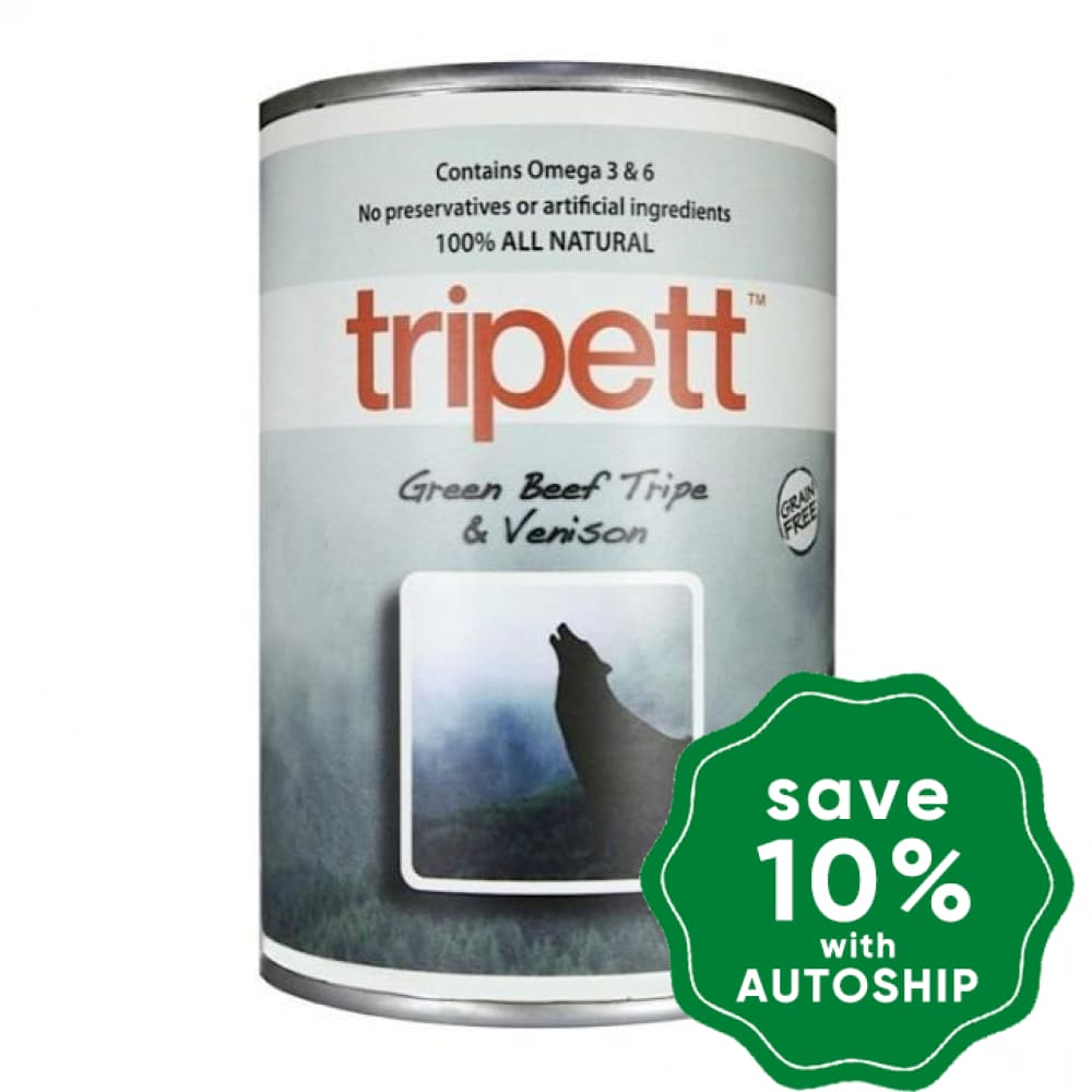 PetKind - Tripett Green Beef Tripe & Venison Canned Dog Food - 14OZ (4 cans) - PetProject.HK