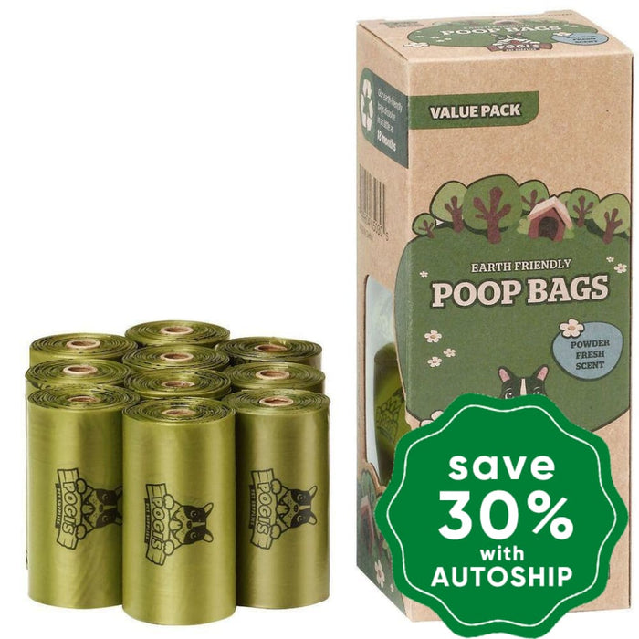 Pogi's Pet Supplies - Poop Bags - Powder Fresh Scent - 10 Packs - PetProject.HK