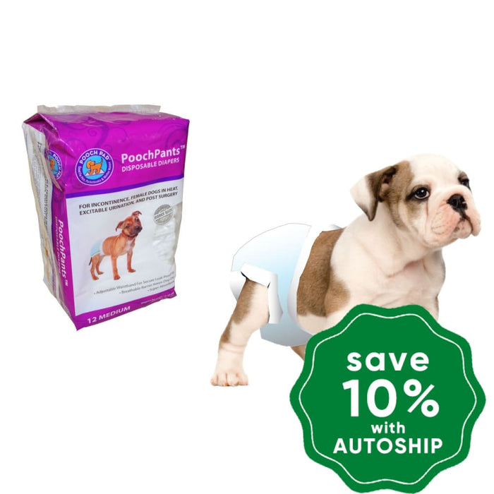 PoochPad - PoochPants Disposable Absorbent Diapers for Female - 12Pack - PetProject.HK