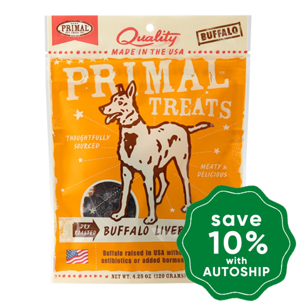 Primal - Treats - Dry Roasted Buffalo Liver Snaps - 4.25OZ - PetProject.HK