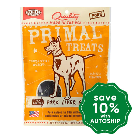 Primal - Treats - Dry Roasted Pork Liver Snaps - 4.25OZ - PetProject.HK