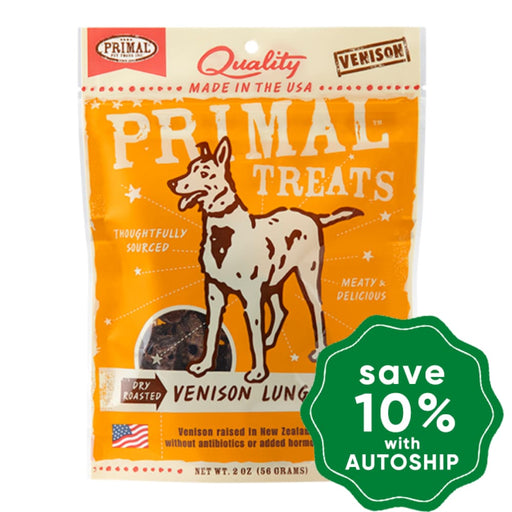 Primal - Treats - Dry Roasted Venison Lung Snaps - 2OZ - PetProject.HK