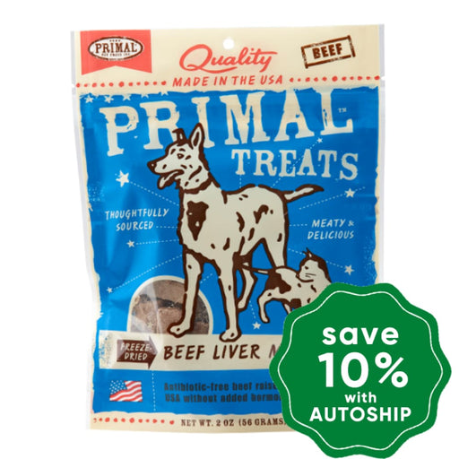 Primal - Treats - Freeze Dried Beef Liver Munchies - 2OZ - PetProject.HK