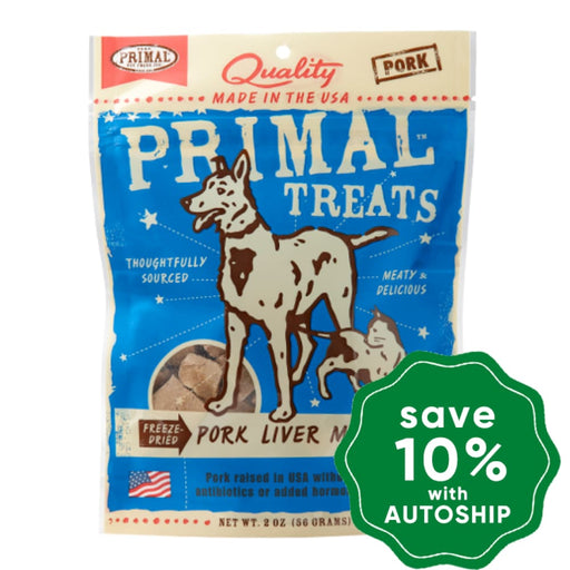 Primal - Treats - Freeze Dried Pork Liver Munchies - 2OZ - PetProject.HK