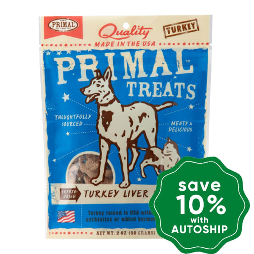 Primal - Treats - Freeze Dried Turkey Liver Munchies - 2OZ - PetProject.HK