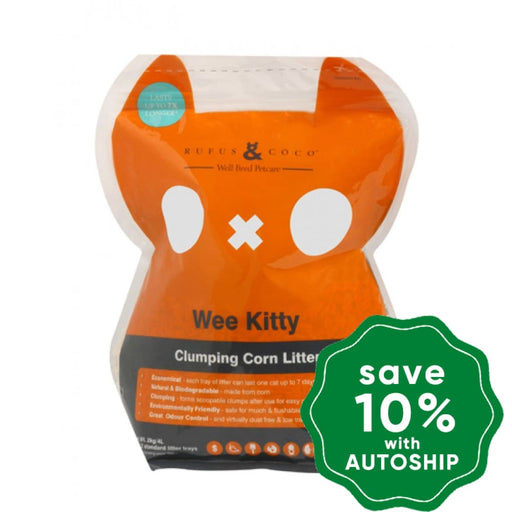 Rufus & Coco - Wee Kitty Clumping Corn Cat Litter - 2KG - PetProject.HK
