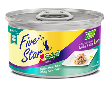 Five Star - Delight Series - Big Mackerel Tuna Whole Loin Flakes - 80G (24 cans) - PetProject.HK