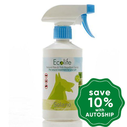 Solano - Natural Flea Tick & Fly Repellent Spray 300Ml Dogs Cats