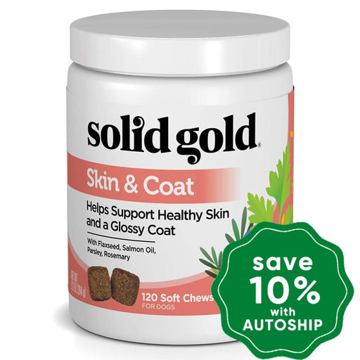 Solid Gold - Dog Supplements - Skin & Coat Health Chew - 9.3OZ - PetProject.HK