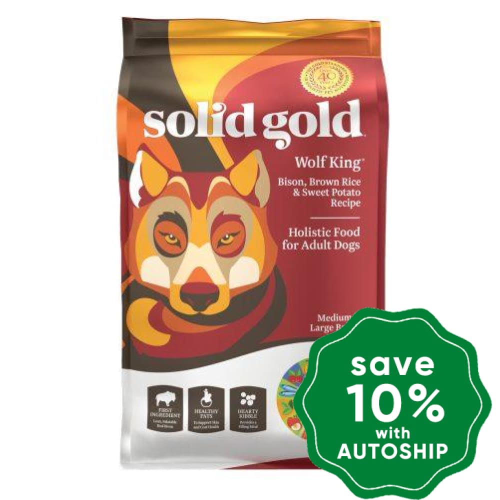 Solid Gold - Dry Dog Food - Adult - Wolf King with Bison - 24LB - PetProject.HK