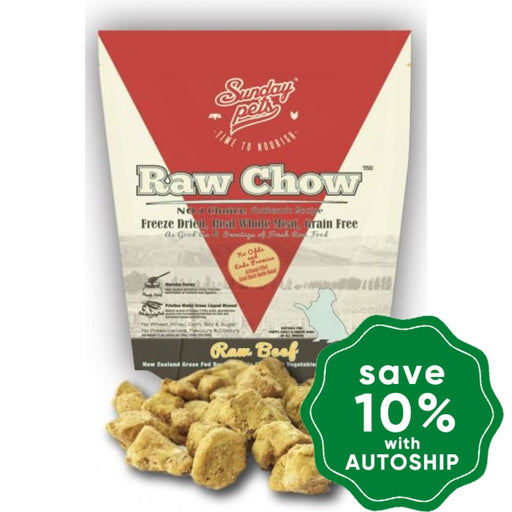 Sunday Pets - Dogs & Puppies Food - Raw Chow Freeze Dried Beef - 1LB - PetProject.HK