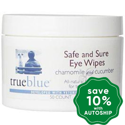 TrueBlue - Safe and Sure Eye Wipes - 50pads - PetProject.HK