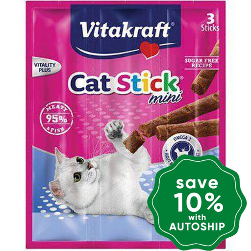 Vitakraft - Cat Sticks Mini -Fish & Omega 3 (3 sticks) (10 packs) - PetProject.HK