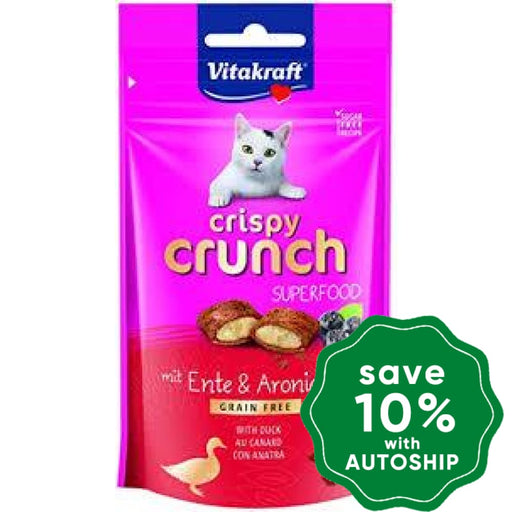 Vitakraft - Crispy Crunch for Cats - Duck & Aronia- 60G - PetProject.HK