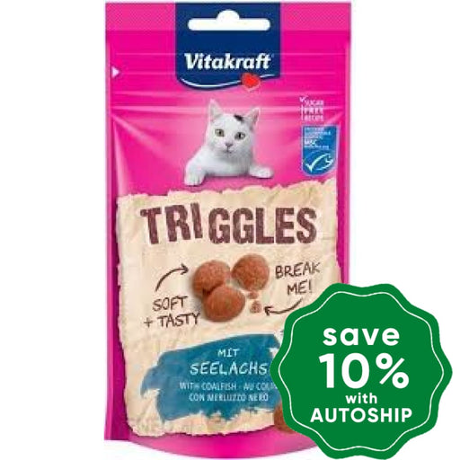 Vitakraft - Triggles for Cats - Coalfish - 40G - PetProject.HK