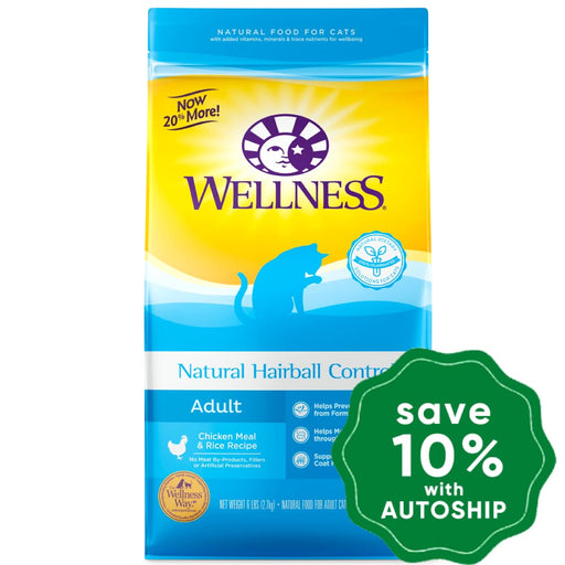 Wellness - Complete Health - Dry Cat Food - Hairball Control Chicken Meal & Rice - 12LB - PetProject.HK