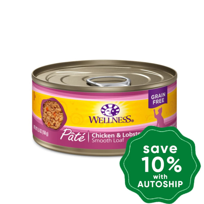 Wellness - Complete Health Pate - Grain Free Canned Cat Food - Chicken & Lobster - 5.5OZ (4 Cans) - PetProject.HK