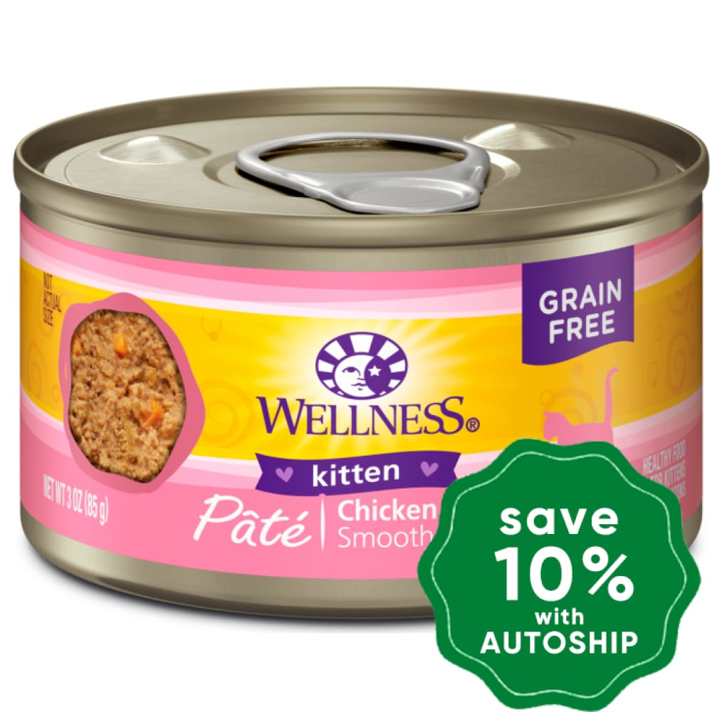 Wellness - Complete Health Pate Kitten - Grain Free Canned Cat Food - Chicken - 3OZ (4 Cans) - PetProject.HK