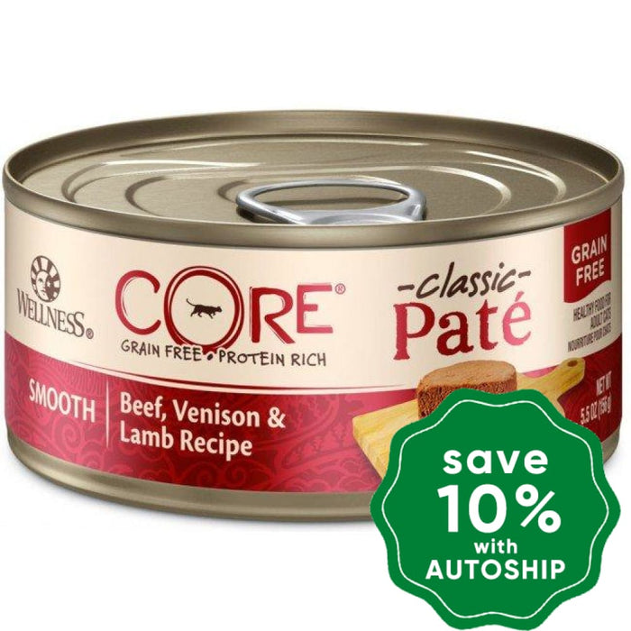 Wellness - CORE Pate - Grain Free Canned Cat Food - Beef, Venison & Lamb - 5.5OZ (4 Cans) - PetProject.HK