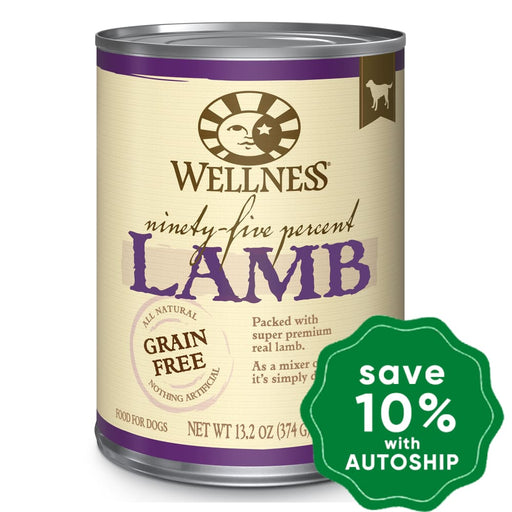 Wellness - Ninety Five Percent - Grain Free Canned Dog Food - 95% Lamb - 13.2OZ (4 Cans) - PetProject.HK