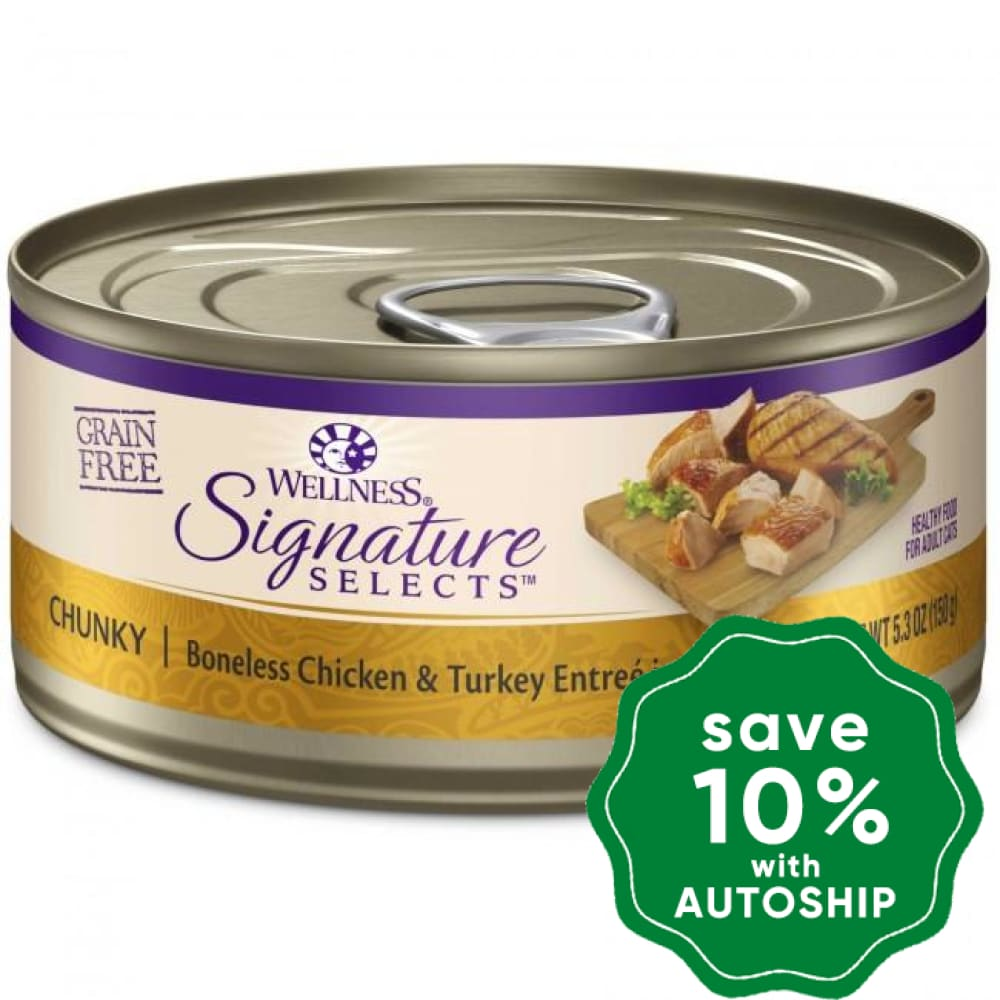 Wellness - Signature Selects - Grain Free Canned Cat Food - Chunky Turkey & Boneless Chicken - 2.8OZ (4 Cans) - PetProject.HK