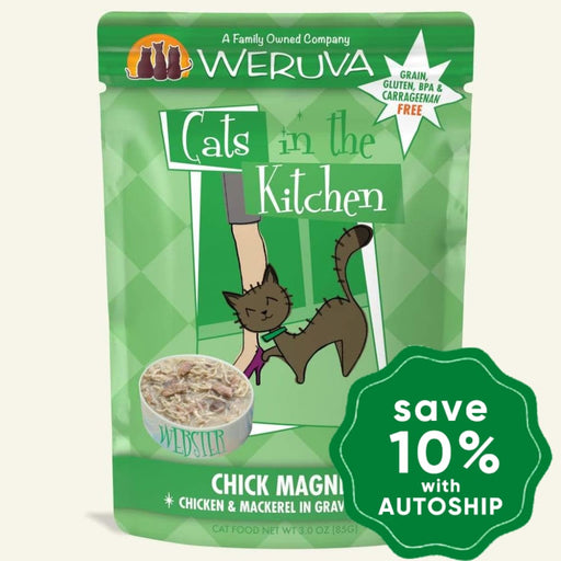 Weruva - Cats In The Kitchen - Chick Magnet - Chicken & Mackerel in Gravy - 85G (4 pouches) - PetProject.HK