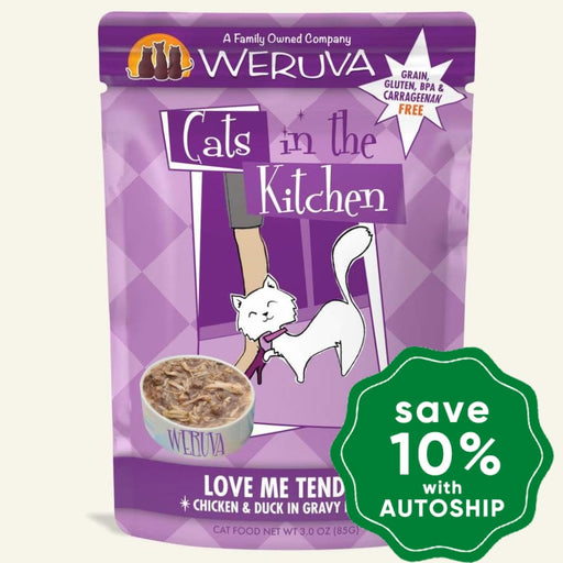 Weruva - Cats In The Kitchen - Love Me Tender - Chicken & Duck in Gravy Recipe 85G (4 Pouches) - PetProject.HK