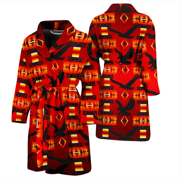 Eagle Dark Red Men's Bath Robe