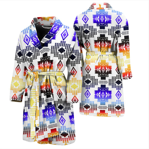 Seven Tribes Horizon White Men's bath Robe