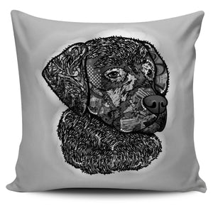 Black & White Dog Pillow Cover