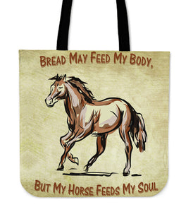 Body & Soul Horse Cloth Tote Bag