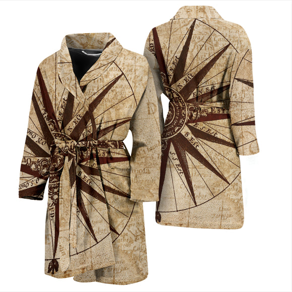 Antique Map Men's Bath Robe