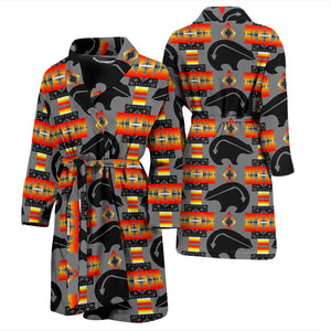 Bear Gray Men's Bath Robe