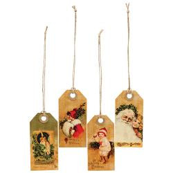 Vintage Merry Christmas Tags