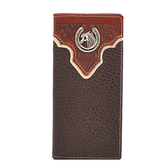 Men's Western Style Horse Collection Long Wallet