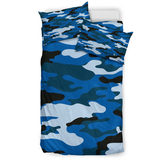 Blue Camo Bedding Set