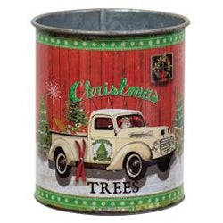 Christmas Trees Truck Can