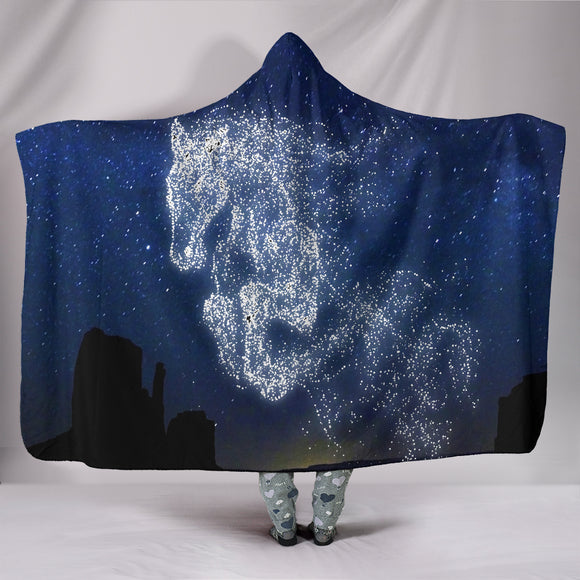 Horse Star Hooded Blanket t