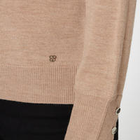Basler Roll Neck Sweater with button detail on sleeve