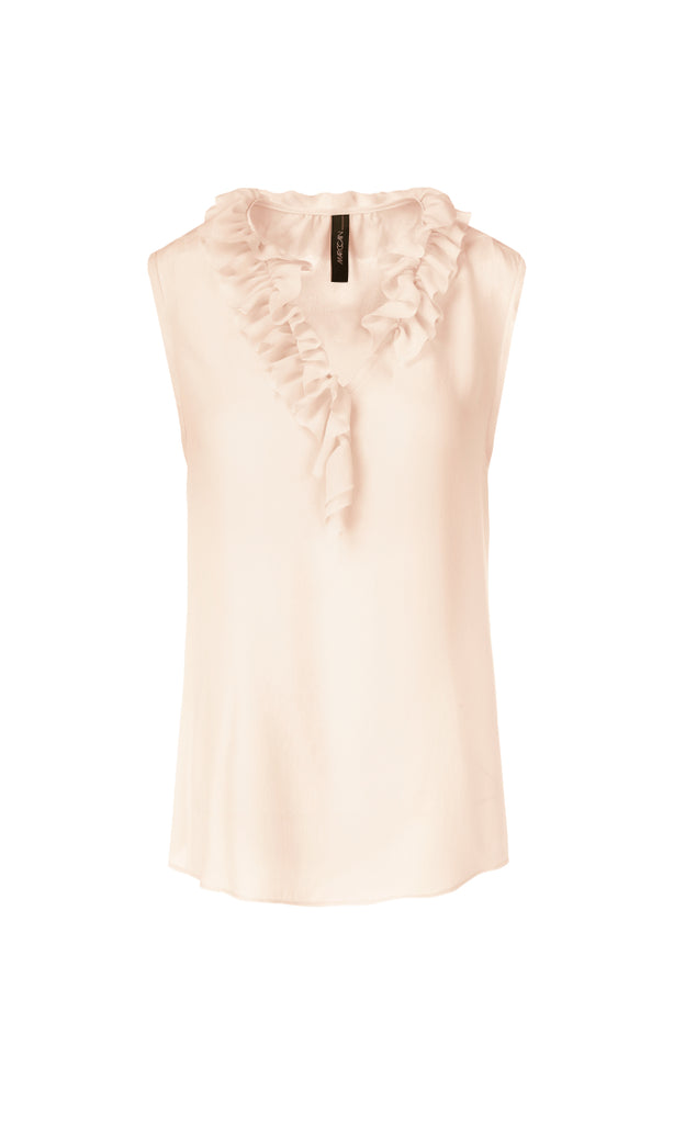 Marc Cain Sleeveless top with ruffle detail