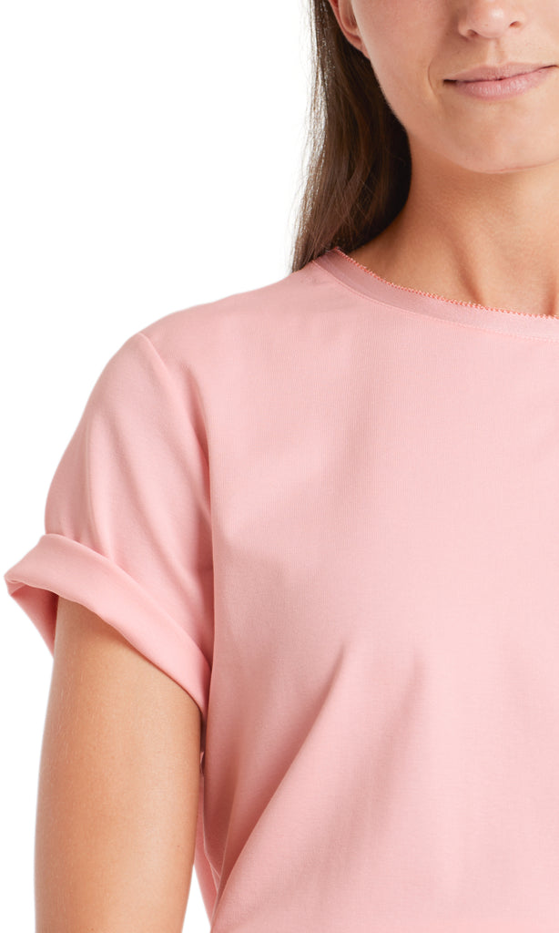 Marc Cain T-Shirt Cotton T-shirt with silk edging