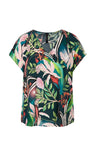 Marc Cain Printed blouse shirt with silk