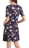 Marc Cain Dress with flower and bird print