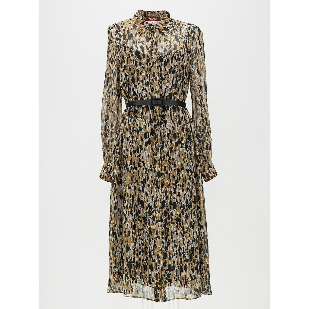 Studio Max Mara Cennare Printed Silk dress